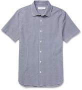 Orlebar Brown Roberts Slim-fit Cotton-seersucker Shirt - Navy