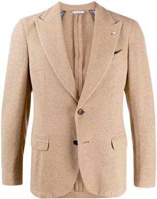 Manuel Ritz Fitted Single Breasted Blazer