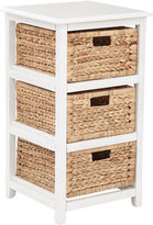 Asstd National Brand Seabrook 3-Tier Storage Unit With Natural Baskets