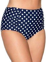 M&Co Plus spot print high waist bikini bottom