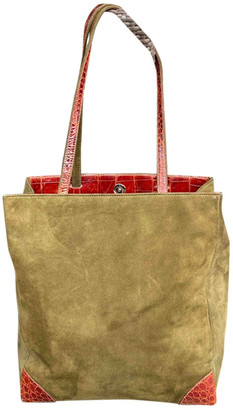 Colombo Green Suede Handbags