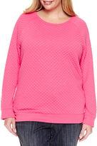 Liz Claiborne Long Sleeve Sweatshirt-Plus