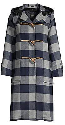Max Mara Women's Zodiaco Gingham Virgin Wool-Blend Peacoat