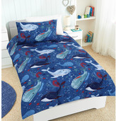 Whales of a Time Glow in the Dark Quilt Cover Set
