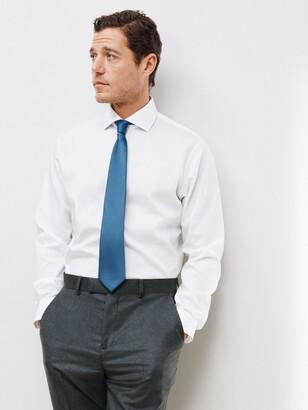 John Lewis & Partners Non Iron Twill Tailored Fit Shirt, White