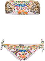 Dolce & Gabbana Leopard print bandeau bikini