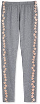 Epic Threads Girls' Glitter Graphic-Stripe Leggings, Only at Macy's