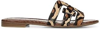 Sam Edelman Bay Flat Leopard-Print Faux Fur Sandals