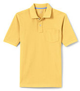 Lands' End Men's Tall Mesh Polo Shirt With Pocket-Rich Sapphire