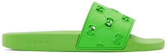 Gucci Green Pursuit GG Pool Slides