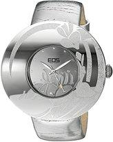 EOS New York Women's 53SSIL Jasmine Silver Leather Strap Watch