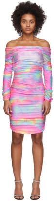 Sies Marjan Multicolor Tie-Dye Glitter Jolene Off-Shoulder Dress