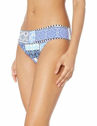 OndadeMar Women's Blue Iris Medium Coverage Bikini Bottom