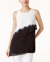 Alfani Petite Ombré-Overlay Top, Only at Macy's