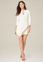 Bebe Shimmer Trim Dress