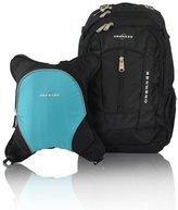 Obersee Bern Diaper Bag Backpack with Detachable Cooler, Black/ Turquoise