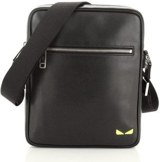 Fendi Monster Front Pocket Messenger Leather