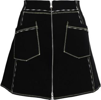 McQ Zip-detailed Stretch-knit Mini Skirt