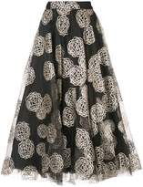 Co patterned flared midi skirt