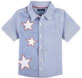 Andy & Evan Childrenswear July 4th Stars & Stripes Seersucker Shirt, Blue, Size 2-7