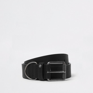 River Island Black D-ring buckle belt