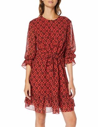 Scotch & Soda Maison Women's Sheer Printed Ruffle Dress