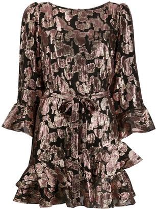 Saloni Metallic Printed Dress