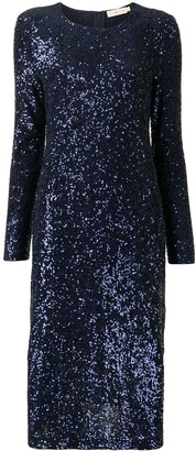Tory Burch Embellished Shift Midi Dress