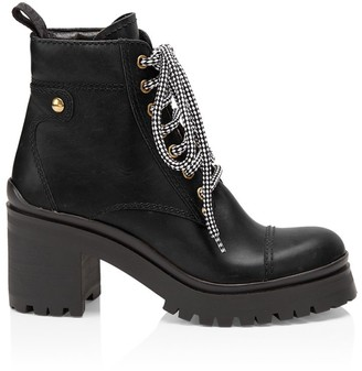 Miu Miu Nevermind Leather Combat Boots