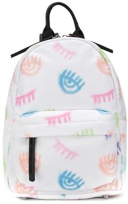 Chiara Ferragni winking eye-print backpack
