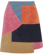 MiH Jeans Kalle Patchwork Suede Mini Skirt