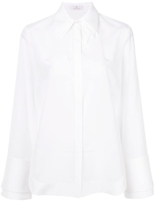 Capucci layered collar flared shirt