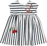 Dolce & Gabbana Stripes Print Cotton Interlock Dress