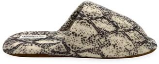 Minnie Rose Python Slippers