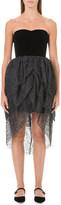 Isa Arfen Sweetheart velvet and tulle dress