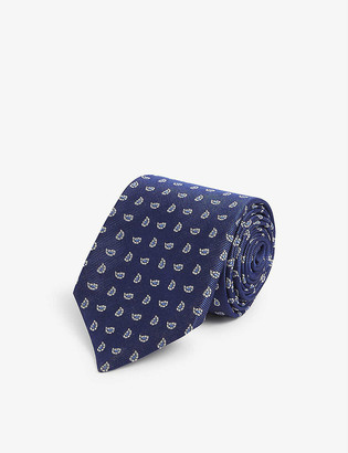 Corneliani Circle-print silk tie