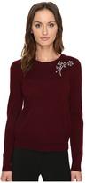 Kate Spade Embellished Brooch Sweater Women's Sweater