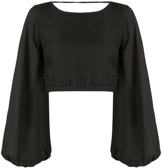 Sir. Indre lace-up back blouse