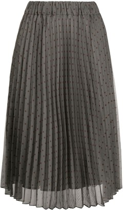 P.A.R.O.S.H. Pleated Knee-Length Skirt