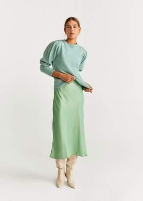 MANGO Ribbed knit sweater aqua green - XXS - Women