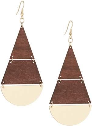 Etereo Boho Goldtone Statement Earrings
