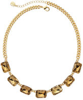 JCPenney MONET JEWELRY Monet Light Brown Crystal Gold-Tone Collar Necklace