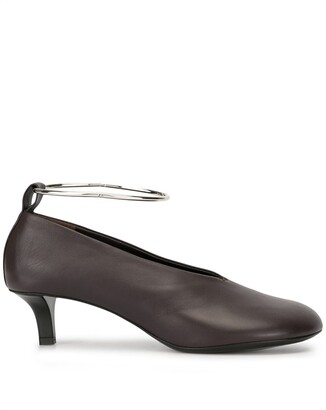 Jil Sander Metal Ankle Strap Pumps