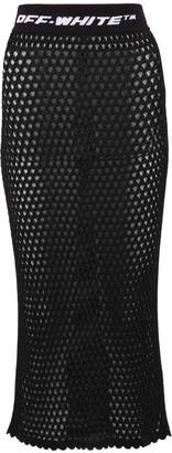 Off-White Logo Fishnet Skirt