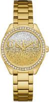 GUESS Women's Gold-Tone Stainless Steel Bracelet Watch 37mm