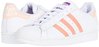 adidas Superstar W (Footwear White/Signal Pink/Shock Purple) Women's Classic Shoes