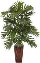 Nearly Natural Green Areca Palm with Bamboo Vase Silk Plant