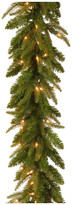 """clear National Tree Company 9'x10"""" Feel-Real Fraser Grande Garland With 100-Light"""