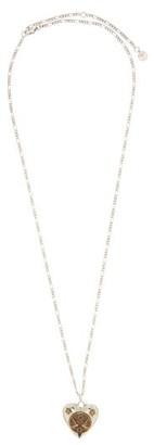 Alexander McQueen Heart-locket Chain Necklace - Silver