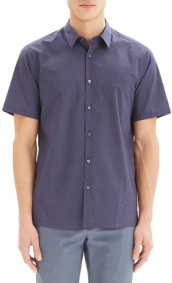 Theory Slim Fit Short Sleeve Cotton Button-Up Shirt